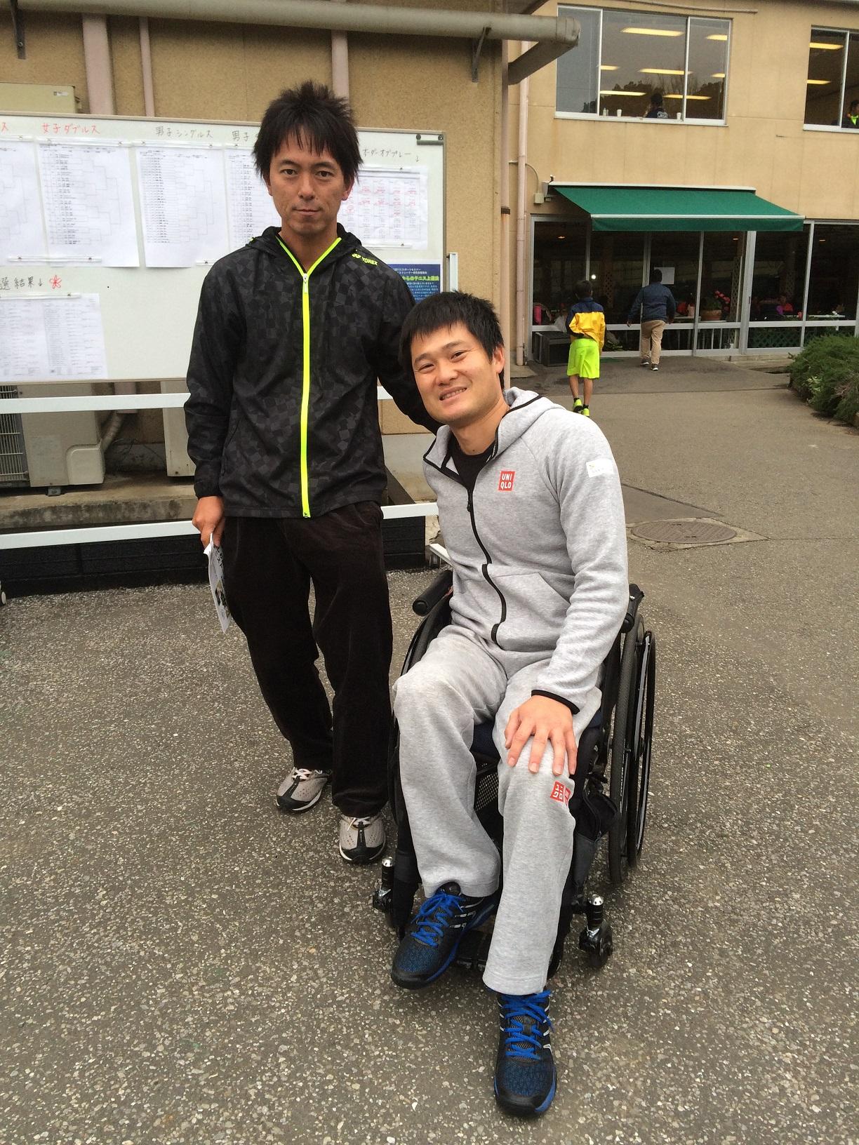 国枝慎吾選手と写真撮影